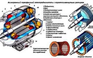 Преимущества двигателей с короткозамкнутым ротором