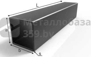 Металлический профиль труба прямоугольная