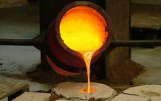 Температура плавления твердых металлов