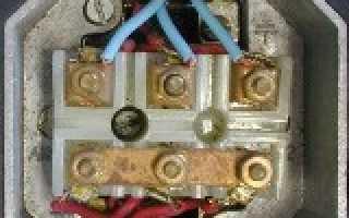 Схема соединения обмоток электродвигателя