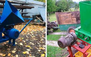 Бензиновые измельчители веток и травы