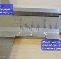 Как измерять дюймовым штангенциркулем