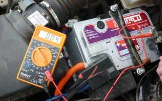 Как проверить пусковой ток аккумулятора мультиметром