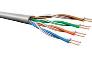 Подключение витой пары 8 провода схема