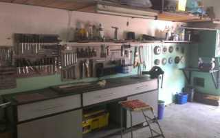 Металлический стол в гараж