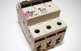 Автоматический выключатель на 380 вольт