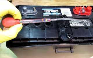 Чем измеряется электролит в аккумуляторе