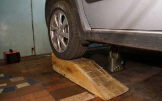 Приспособление для поднятия машины без домкрата