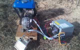 Самодельная электростанция на 220 вольт