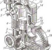 Перечислите механизмы и системы четырехтактных поршневых двигателей
