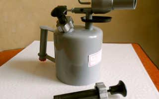 Как работает паяльная лампа на бензине