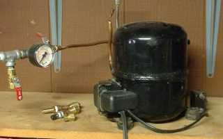 Как сделать компрессор из двигателя от холодильника