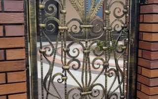 Калитка с элементами ковки фото эскизы
