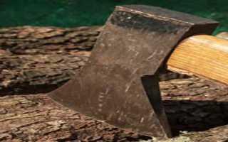 Колка дров перфоратором с лопаткой