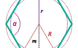 Площадь шестиугольника через диагональ