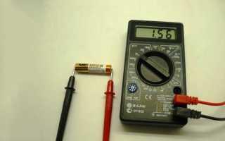 Проверка емкости батарейки мультиметром