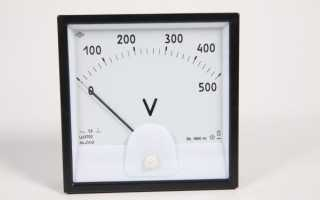Стрелочные вольтметры постоянного тока