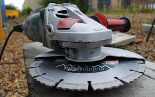 Отрезной диск по бетону для болгарки
