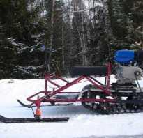 Как собрать снегоход из бензопилы
