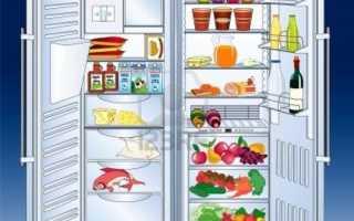 Время работы холодильника до отключения