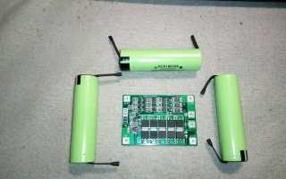 Аккумулятора шуруповерта на li ion 18650 балансировочная