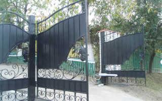 Откатные ворота с ковкой своими руками